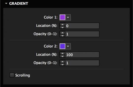 Set gradient colors