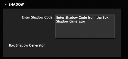 Add custom shadow