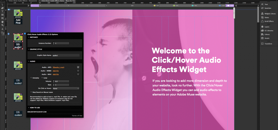 Click/Hover Audio Effects