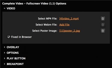 Fullscreen video