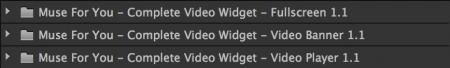 3 different video widgets