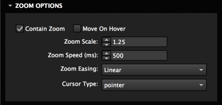 Set zoom options