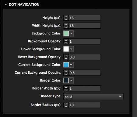 Customize dot navigation