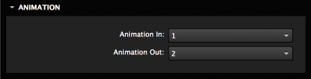 Set the open and close animation