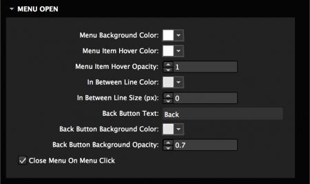 Style menu colors