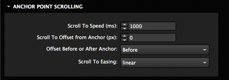 Set anchor point scrolling