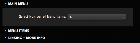 Add up to 12 menu items for each menu