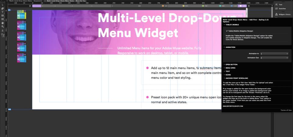 Multi-Level Drop-Down Menu
