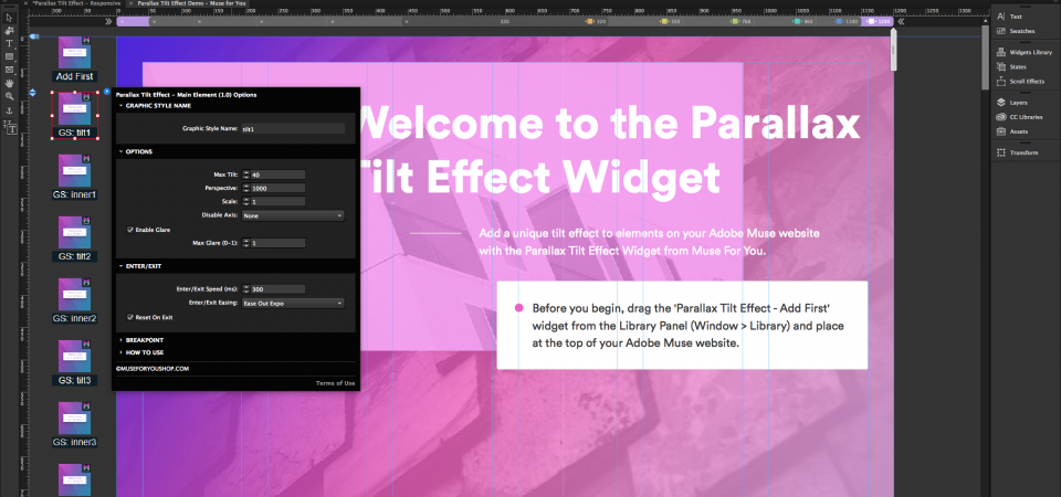 Parallax Tilt Effect