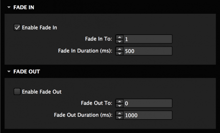 Fade elements in and out