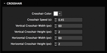 Customize crosshair and effect speed