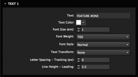 Style the text for the hover box