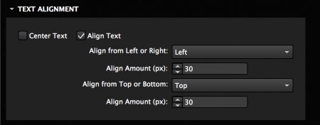 Set the alignment for the text