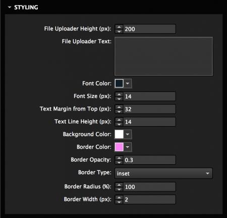 Style file uploader area