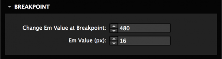 Change font size at a specific breakpoint