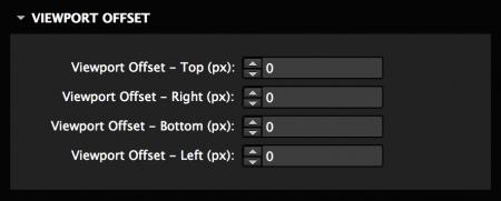 Set a viewport offset