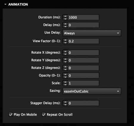 Customize animation