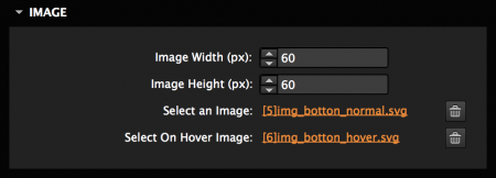 Set width and image