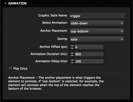 Choose from 25+ on scroll animations