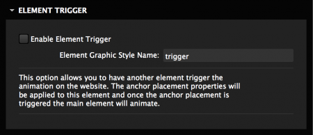 Have another element trigger the animation