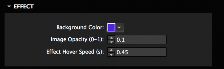 Set the colors and effect speed