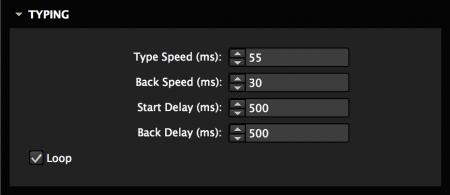 Set type speed