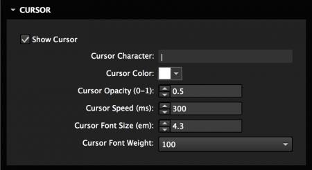 Customize cursor