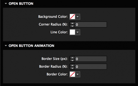 Customize open button