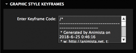 Add keyframe code