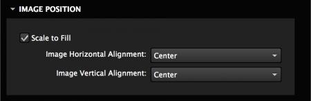 Set image options