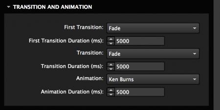 Set slide transition and animation
