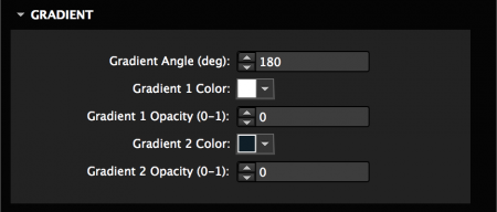 Set gradient colors and angle