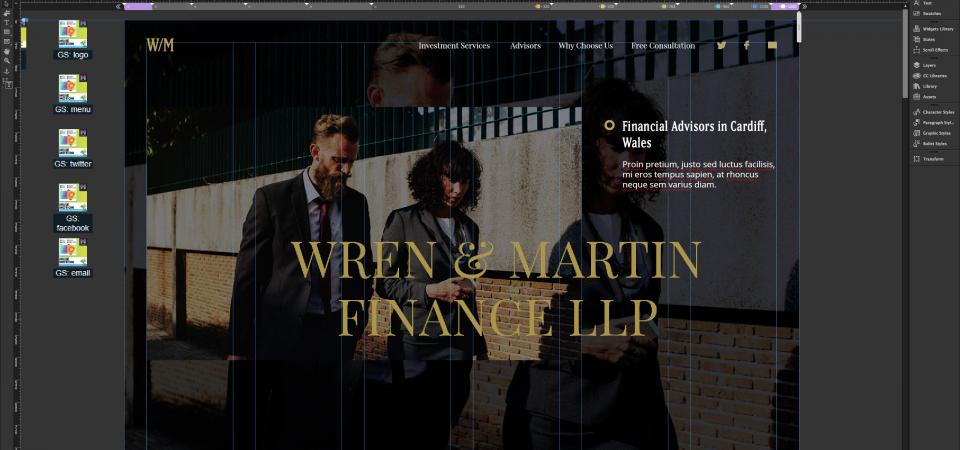 Financial Advisors Template